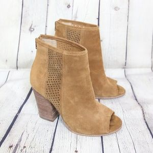 Gianni Bini Suede Open Toe Ankle Booties